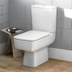 Premier Bliss Semi Flush To Wall Compact Toilet Pan & Cistern.