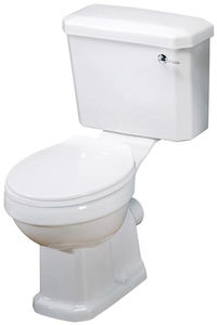 Premier Carlton Close Coupled Traditional Toilet With Cistern & Seat.