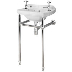 Premier Carlton Traditional Washstand & Cloakroom Basin (2 Hole).