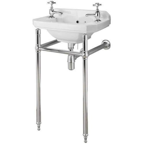 Premier Carlton Traditional Washstand 745x465x368mm (Chrome).