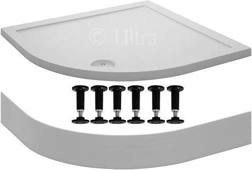 Crown Trays Easy Plumb Quadrant Shower Tray. 800x800x40mm.
