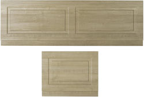 Old London York Front Bath Panel 1700mm & End Panel 750mm (Oak).