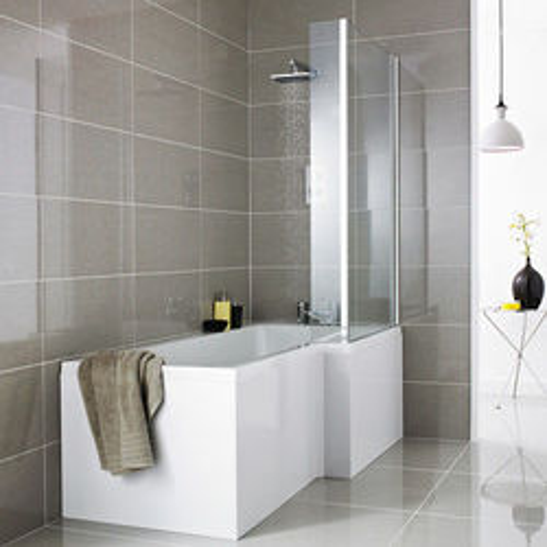 Premier Baths Square Shower Bath With Panels & Screen (RH).