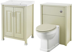 Old London Furniture 600mm Vanity & 600mm WC Unit Pack (Pistachio).