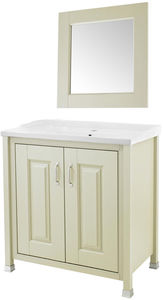 Old London Furniture 800mm Vanity & 600mm Mirror Pack (Pistachio).
