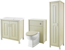 Old London Furniture 800mm Vanity, 600mm WC & Tall Unit Pack (Pistachio).