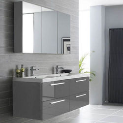 Hudson Reed Quartet Wall Hung Vanity Unit Pack With Cabinet (Gloss Grey).