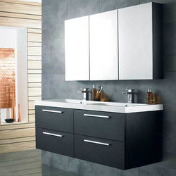 Hudson Reed Quartet Wall Hung Vanity Unit Pack With Cabinet (H Black).