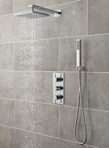 Ultra Quest Quest Triple Thermostatic Shower Valve, Head & Shower Kit.