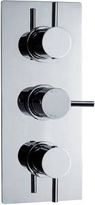 Ultra Quest Triple Concealed Thermostatic Shower Valve (Chrome).