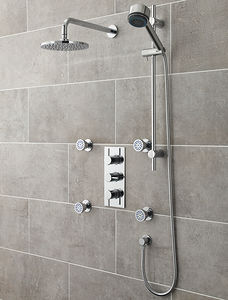 Ultra Quest Quest Thermostatic Shower Valve With Head, Slide Rail & Jets.
