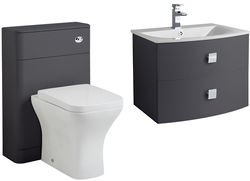 HR Sarenna Bathroom Furniture Pack 1 (Graphite).