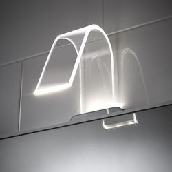 Hudson Reed Lighting Curved LED Over Mirror Light Only (Warm White).