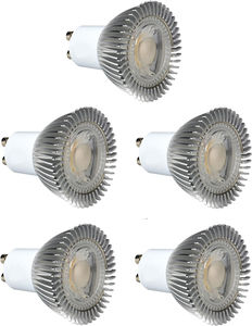 Hudson Reed LED Lamps 5 x GU10 5W Dimmable COB LED Lamps (Warm White).