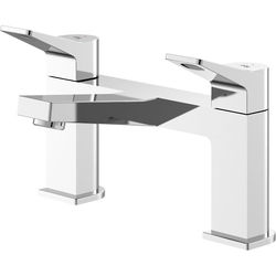 HR Soar Bath Filler Tap With Lever Handles (Chrome).
