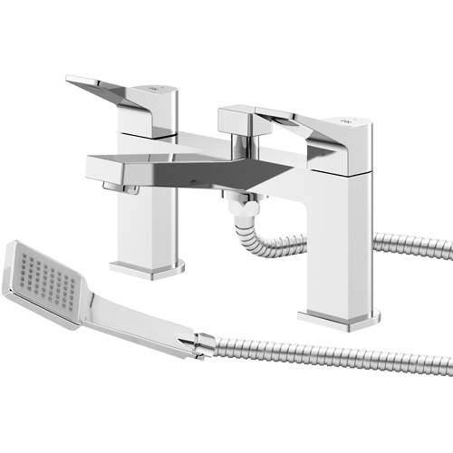 HR Soar Bath Shower Mixer Tap With Lever Handles (Chrome).