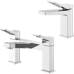 HR Soar Basin & Bath Filler Tap Pack (Chrome).