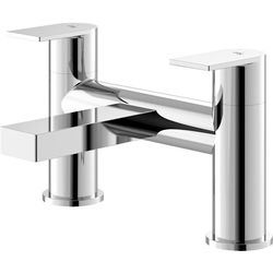 HR Sottile Bath Filler Tap With Lever Handles (Chrome).