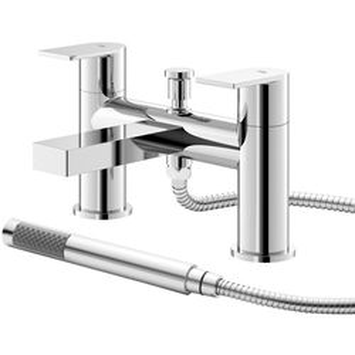 HR Sottile Bath Shower Mixer Tap With Kit (Chrome).