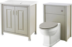 Old London Furniture 800mm Vanity & 600mm WC Unit Pack (Stone Grey).