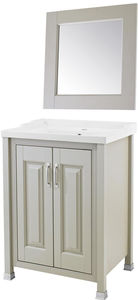 Old London Furniture 600mm Vanity & 600mm Mirror Pack (Stone Grey).