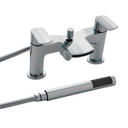 Nuie Mona Waterfall Bath Shower Mixer Tap With Kit (Chrome).