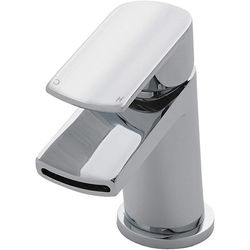 Nuie Mona Waterfall Basin Mixer Tap With Push Button Waste (Chrome).