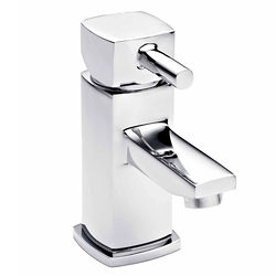 Nuie Munro Mono Basin Mixer Tap With Push Button Waste (Chrome).