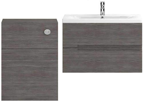 HR Urban 800mm Wall Vanity With 600mm WC Unit & Basin 1 (Grey Avola).