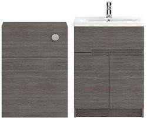 HR Urban 600mm Vanity With 600mm WC Unit & Basin 1 (Grey Avola).