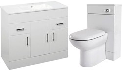 Premier Eden 1000mm Vanity Unit Suite With BTW Unit, Pan & Seat.
