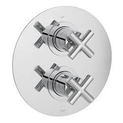 Vado Elements Thermostatic Shower Valve With 2 Outlets (Chrome).