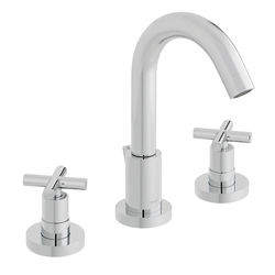 Vado Elements 3 Hole Basin Mixer Tap With Pop Up Waste (Chrome).