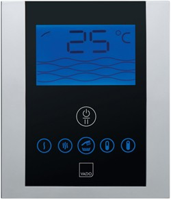 Vado Identity Remote Shower Mixer With Diverter & Digital Control Panel. IDE-147B-C/P