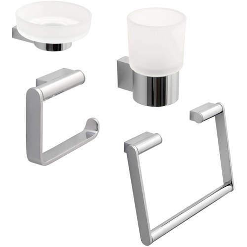Vado Infinity Bathroom Accessories Pack A10 (Chrome).