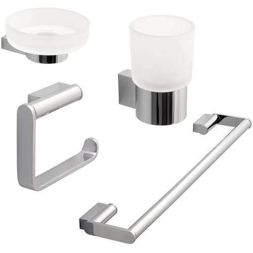 Vado Infinity Bathroom Accessories Pack A15 (Chrome).