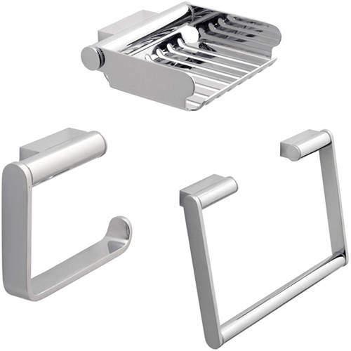 Vado Infinity Bathroom Accessories Pack A6 (Chrome).