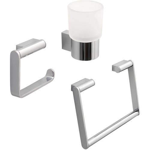 Vado Infinity Bathroom Accessories Pack A9 (Chrome).
