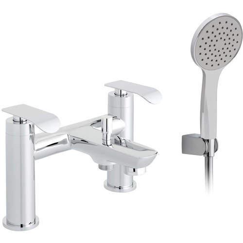 Vado Kovera Bath Shower Mixer Tap With Shower Kit (Chrome).