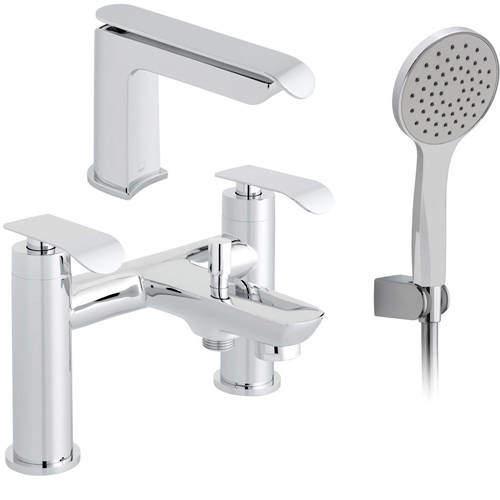 Vado Kovera Bath Shower Mixer & Basin Tap Pack (Chrome).