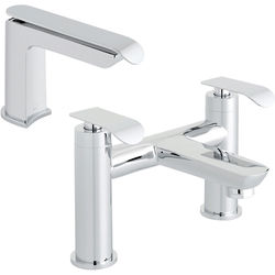 Vado Kovera Bath Filler Tap & Basin Mixer Tap Pack (Chrome).