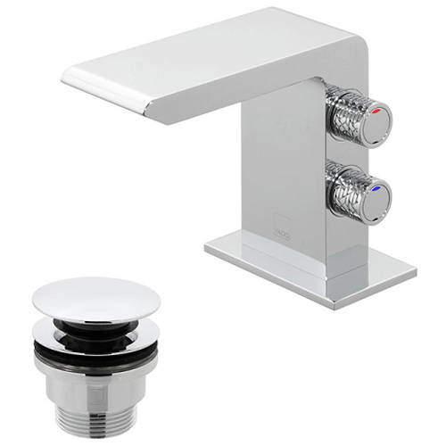 Vado Omika Mini Mono Basin Mixer Tap With Universal Waste (Chrome).
