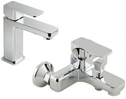 Vado Phase Basin Mixer & Wall Mounted Bath Shower Mixer Tap Pack.