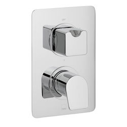 Vado Photon Thermostatic Shower Valve With 3 Outlets (Chrome).