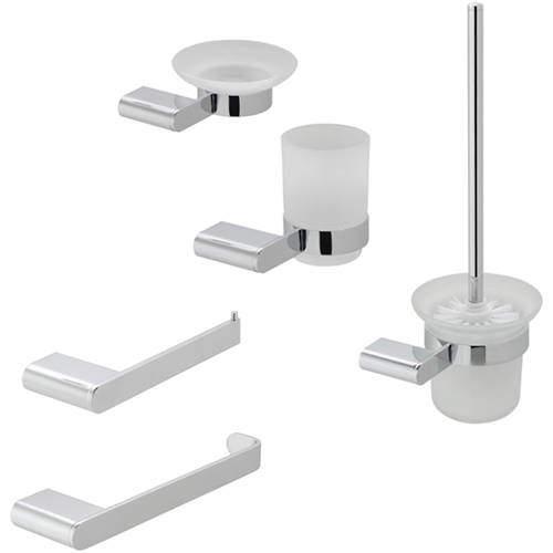 Vado Photon Bathroom Accessories Pack A07 (Chrome).