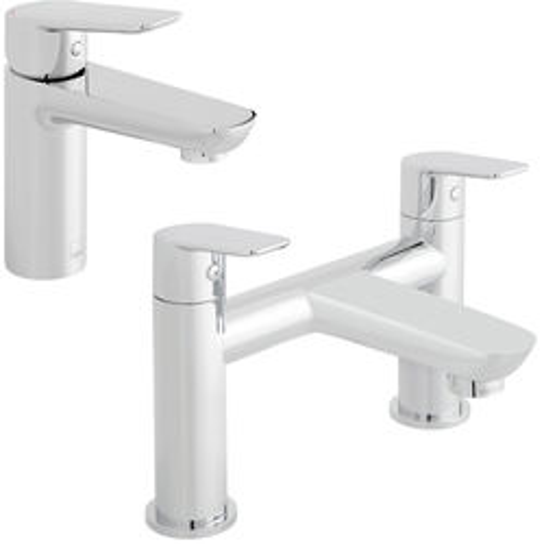 Vado Photon Basin & Bath Filler Tap Pack (Chrome).
