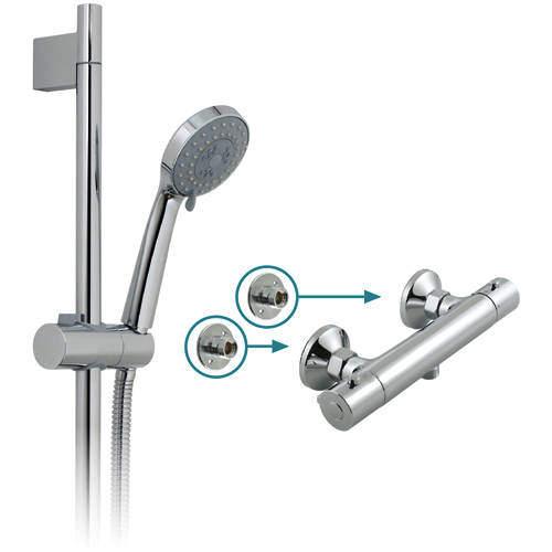Vado Shower Packs Prima Thermostatic Shower Pack & Brackets.