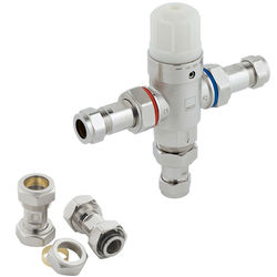 """Vado Protherm In-Line Thermostatic Mixer Valve 1/2"""" & 22mm (TMV2)."""