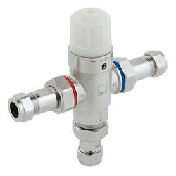 "Vado Protherm In-Line Thermostatic Mixer Valve 1/2"" (TMV2 Approved)."