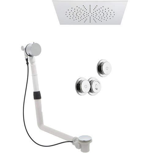 Vado Sensori SmartDial Thermostatic, Square Head, Bath Filler & Remote.